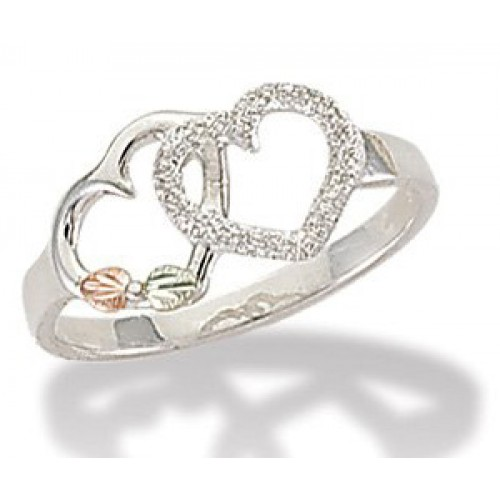 Black Hills Silver Double Heart Ring