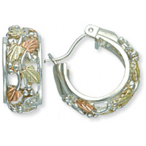 Sterling Silver Black Hills Hoop Earrings