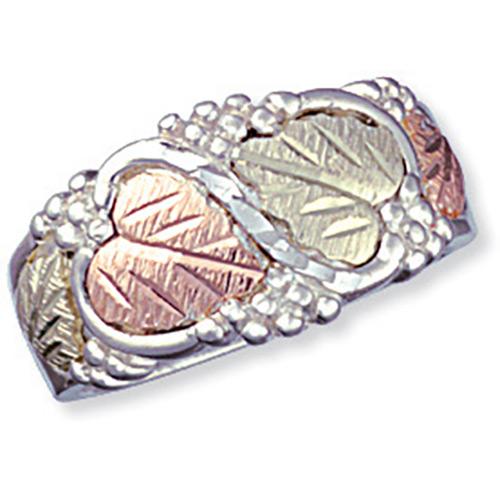 WRS4. Black Hills Silver Womens Wedding Ring