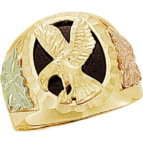 Landstroms Black Hills Gold Eagle Onyx Ring - 0240...