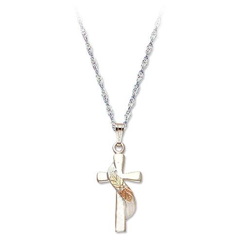 Black Hills Silver Swirl Cross
