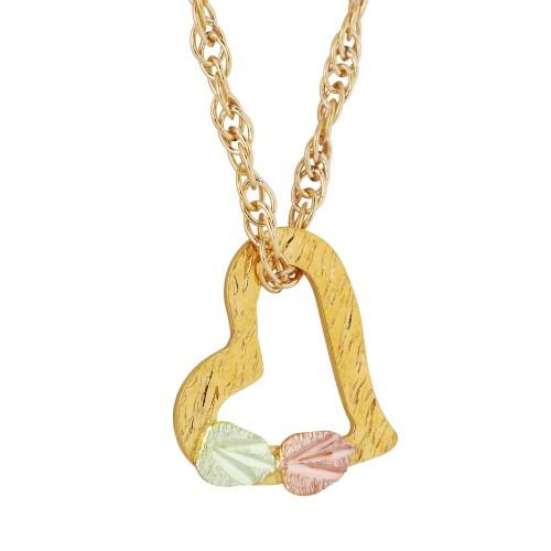 Slanting Heart 10k Gold Necklace