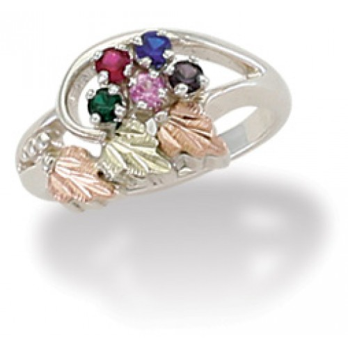 Black Hills Silver Mothers Ring -  2-6 2.5MM Genui...