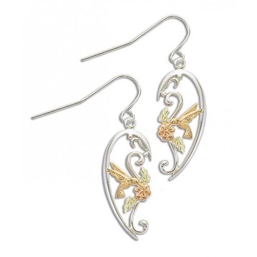 Hummingbird Black Hills Silver Earrings