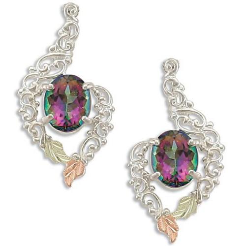 Black Hills Silver Mystic Fire Earrings