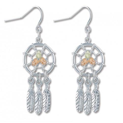 Black Hills Silver Dreamcatcher Earrings