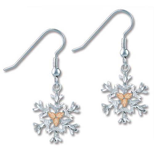 Black Hills Silver Snow Flake Earrings