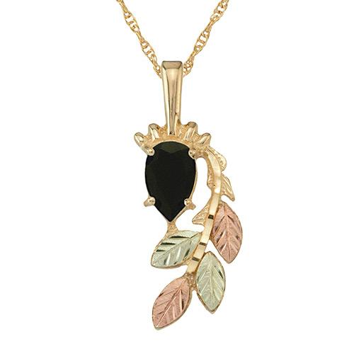 Onyx Black Hills Gold Pendant