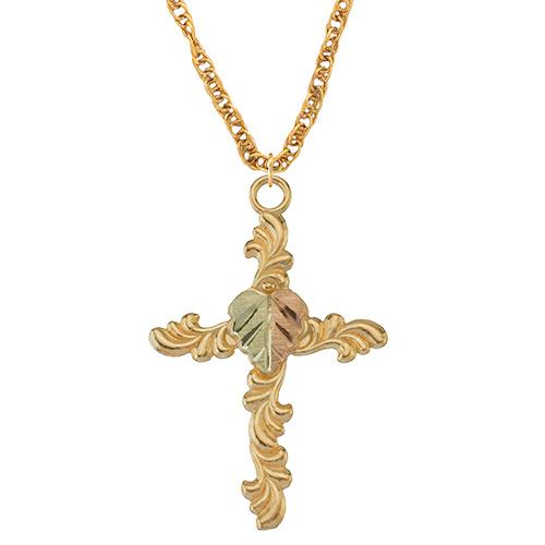 10K Black Hills Gold Cross Pendant