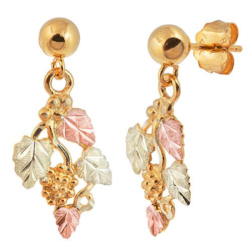 Black Hills 10k Gold Dangle Earrings