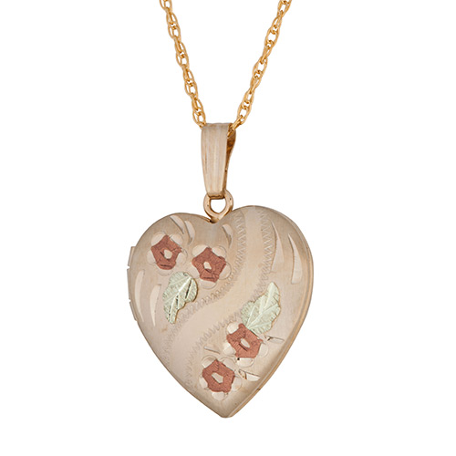 Black Hills Heart Locket with Roses