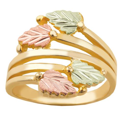 10K Black Hills Gold Layered Vines Ring