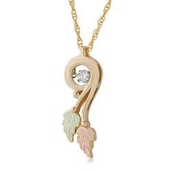 10K Black Hills Gold Diamond Pendant with .01 ct d...