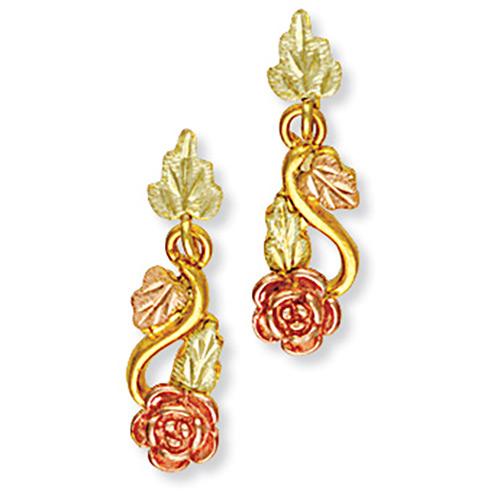Landstroms 10k Gold Rose Earrings