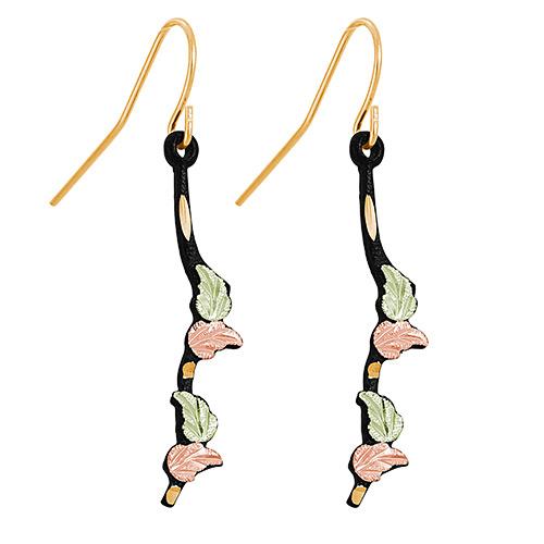 Black Powder Coat Shepherd Hook Earrings
