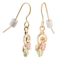 10k Black Hills Gold Spiral Earrings