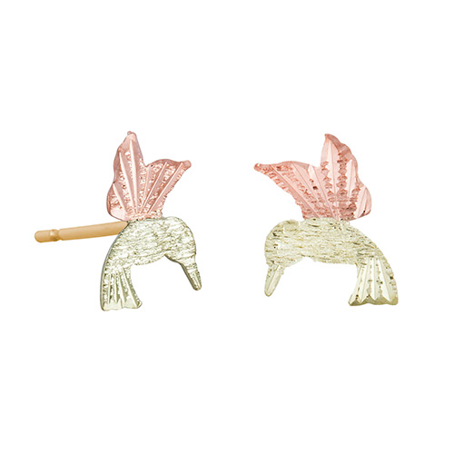 Humming Bird 12k Gold Earrings