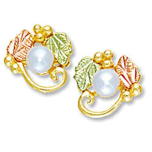 10K Gold Pearl Earrings