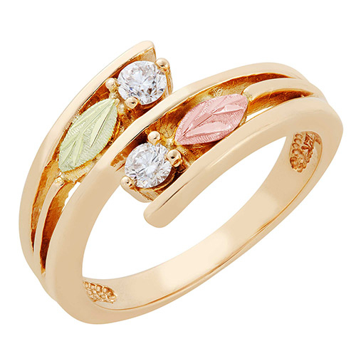 Landstroms Black Hills Gold 10K Gold Diamond Ring