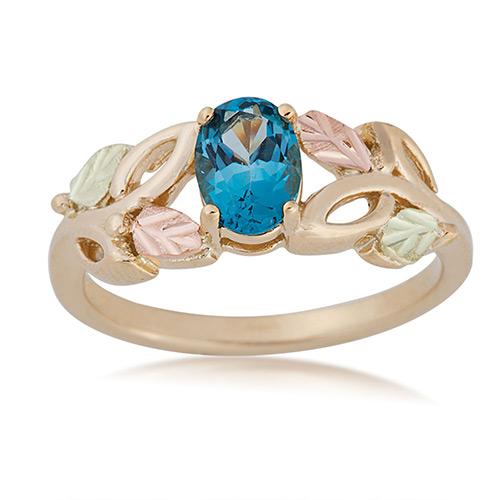 10K Gold Blue Topaz Ring from Landstroms Black Hil...