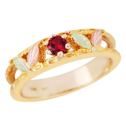 Black Hills Gold Genuine Ruby Ring