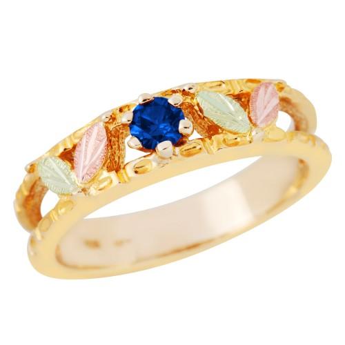 Black Hills Gold Genuine Sapphire Ring