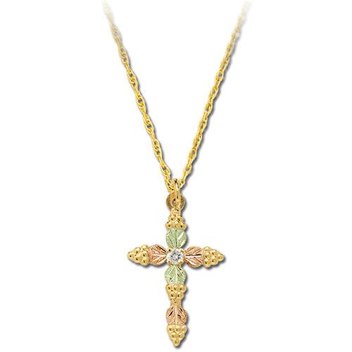 10k Gold Diamond Cross Necklace