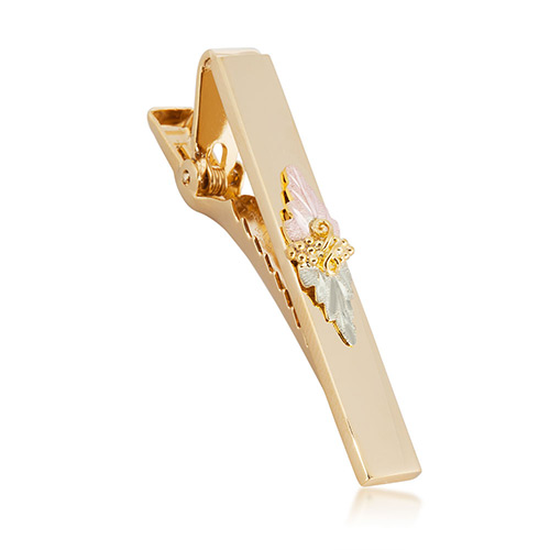 Black Hills Gold Tie Bar with Gold Tone and 10K Tr...