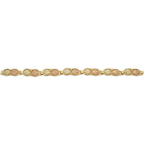 10K Black Hills Gold Bracelets with 12k Leaves