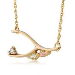 10k Black Hills Gold Diamond Accent Pendant