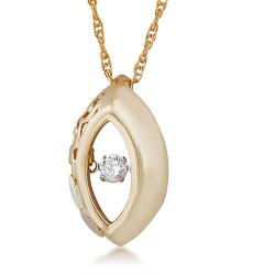 10K Black Hills Gold  .01 ct round shaped Genuine ...