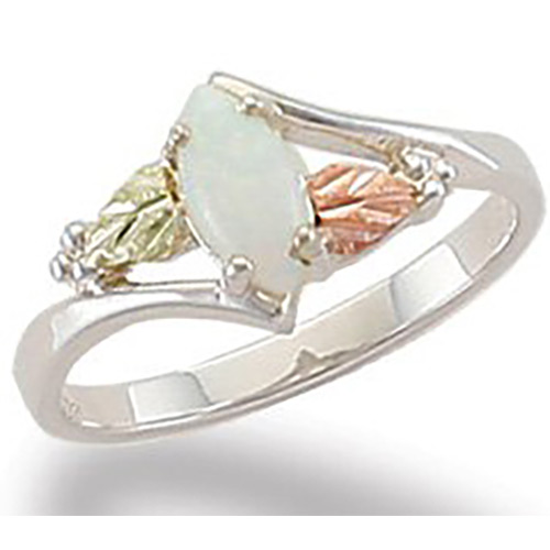 Black Hills Marquise Shaped Opal Ring