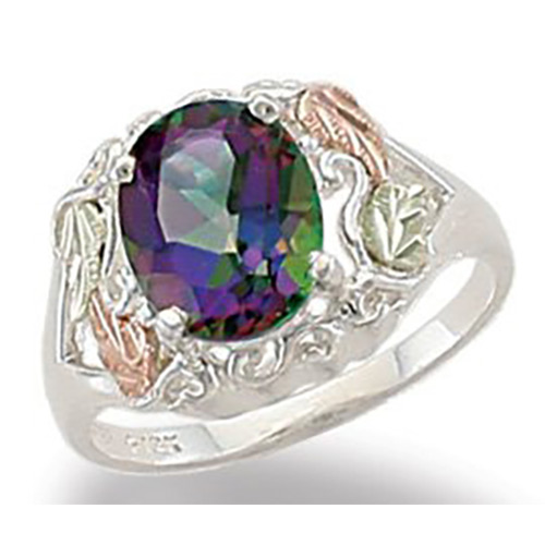 Black Hills Gold Mystic Fire Ring in Sterling Silv...