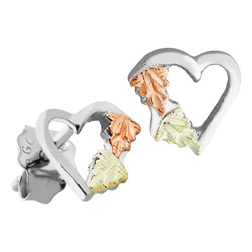 Black Hills Silver Heart Earrings