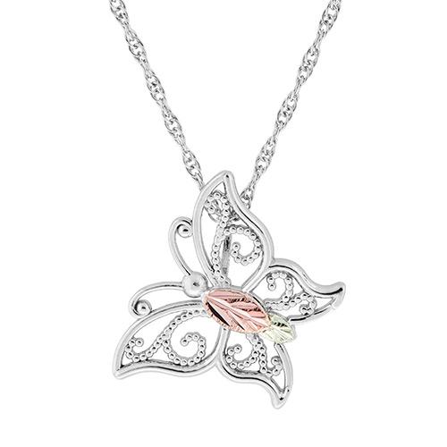 Butterfly Black Hills Silver Pendant