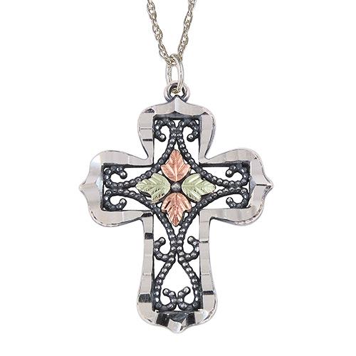 Black Hills Silver  Oxidised Cross Pendant