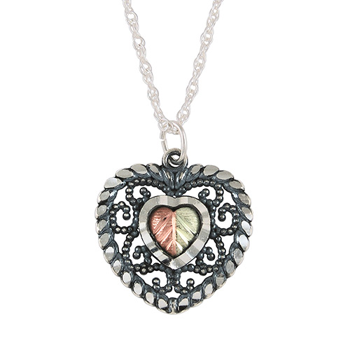 Oxidized Black Hills Silver Pendant