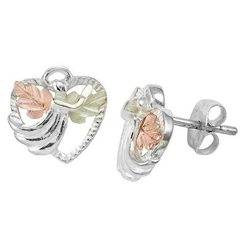 Angel on the Heart Black Hills Silver Earrings