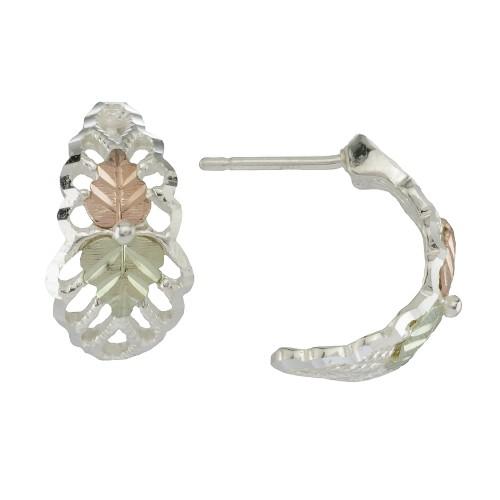 Black Hills Silver Semi Hoop Earrings