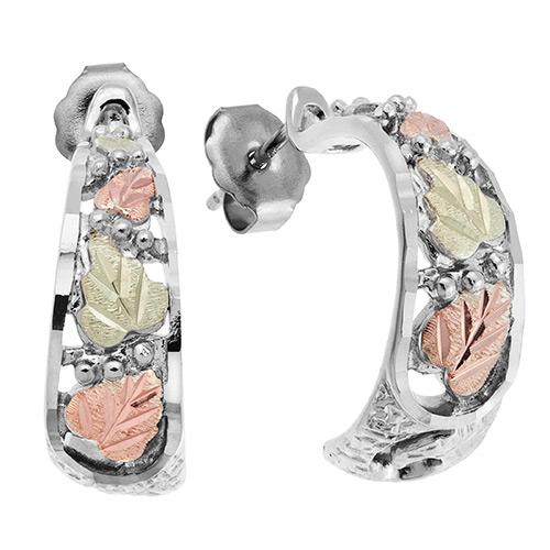 Black Hills Semi Hoop Silver Earrings