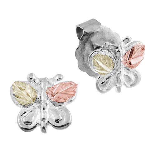Silver Black Hills Butterfly Earrings