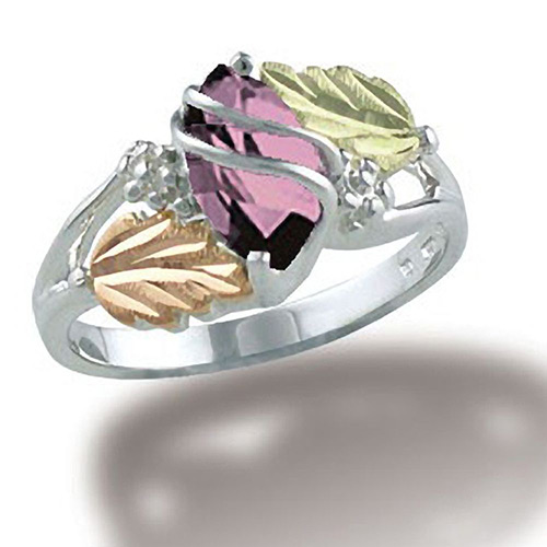 Black Hills Silver Pink CZ Ring