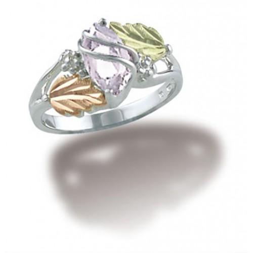 April Birthstone Ring in Sterling Silver