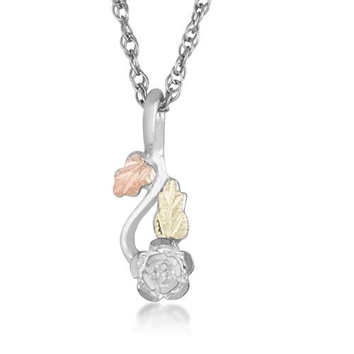 Black Hills Silver Rose Necklace