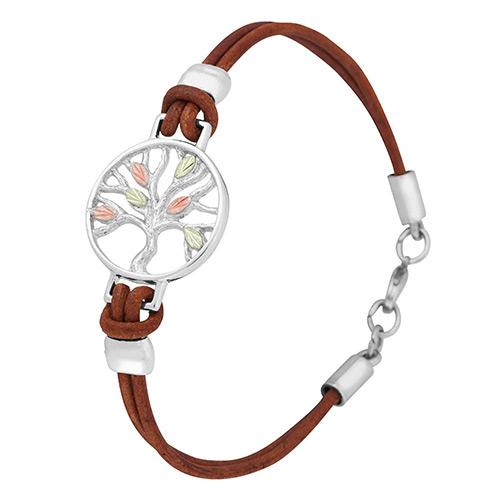 Landstroms Tree of Life Brown Leather Bracelets