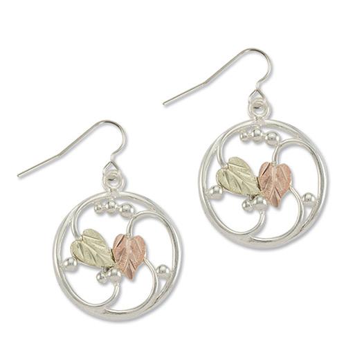 Round Drop Silver Earrings