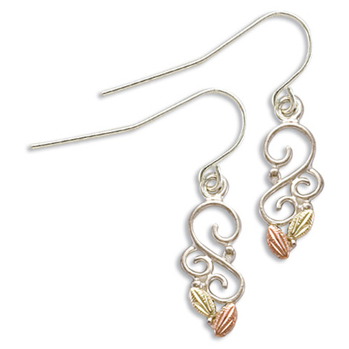 Silver Dangling Swirl Earrings