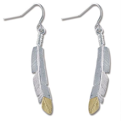 Silver Feather Earrings from Landstroms