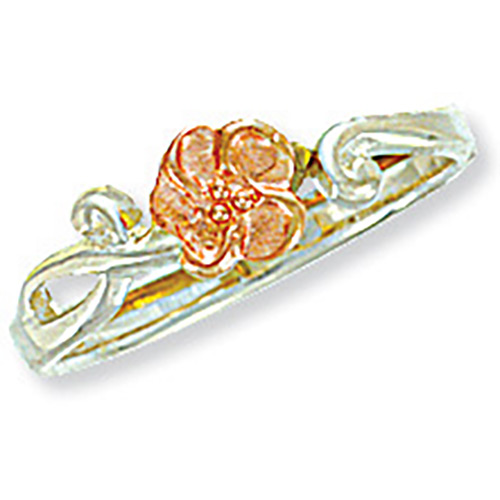Flower Silver Toe Ring