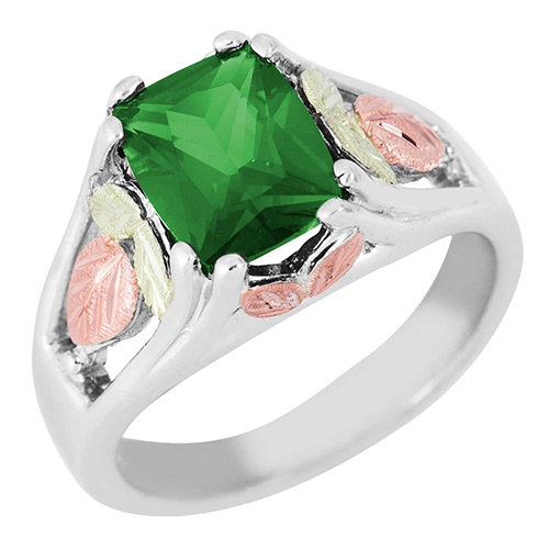 Soude Emerald Black Hills Silver Ring
